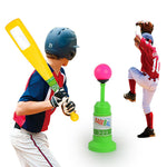 Children's Baseball Practice Auto-Bounce Baseball Toy Fun Family Outdoor Game Toys Pop Up Batting Practice