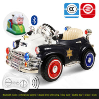 Children's electric car Four-wheeled car dual-drive remote control / self-driving toy car can sit baby kids blue tooth music car