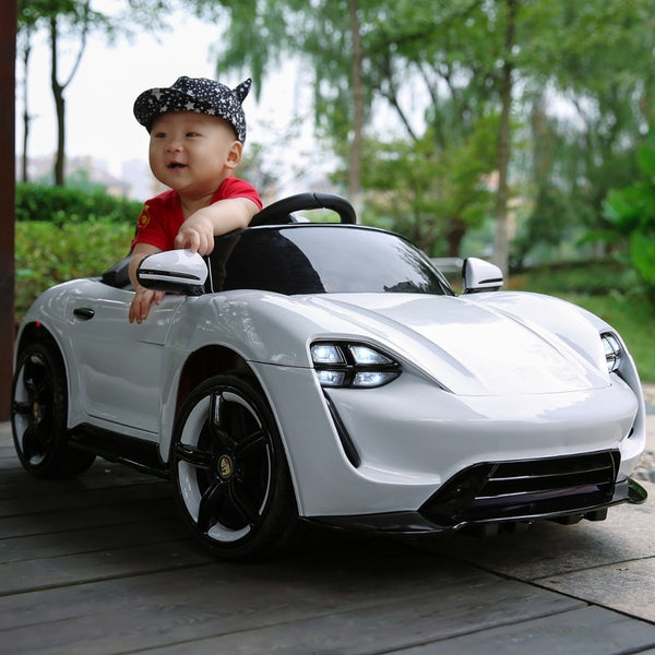 Children's electric car four-wheel multi-function remote control dual drive can sit children swing early education car