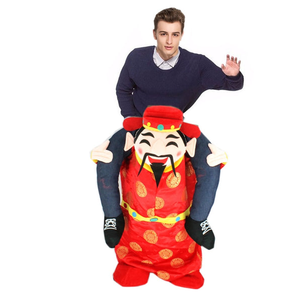Chinese New Year Costumes for Adult Cartoon Mascot Costume Funny Dress God of Wealth Mascot Costume Halloween Cosplay Clothes