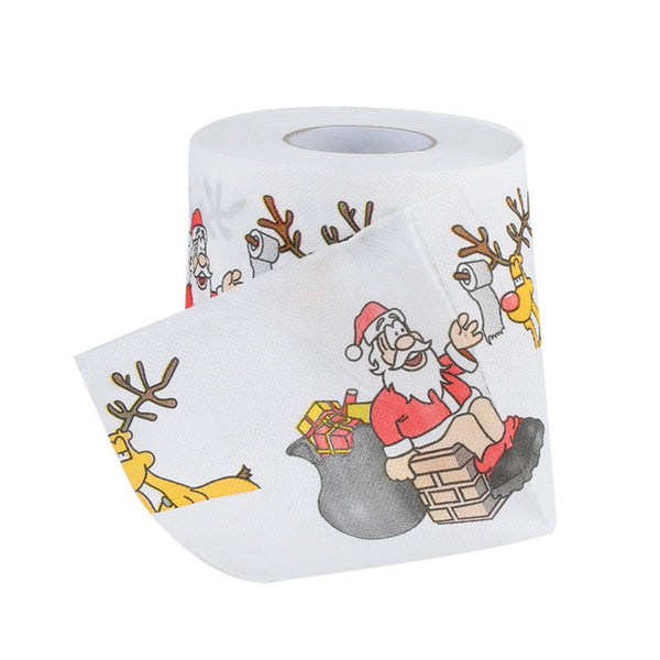 Christmas Pattern Series Roll Paper Prints Funny Toilet Paper 2018 New Christmas Creative Toilet Paper
