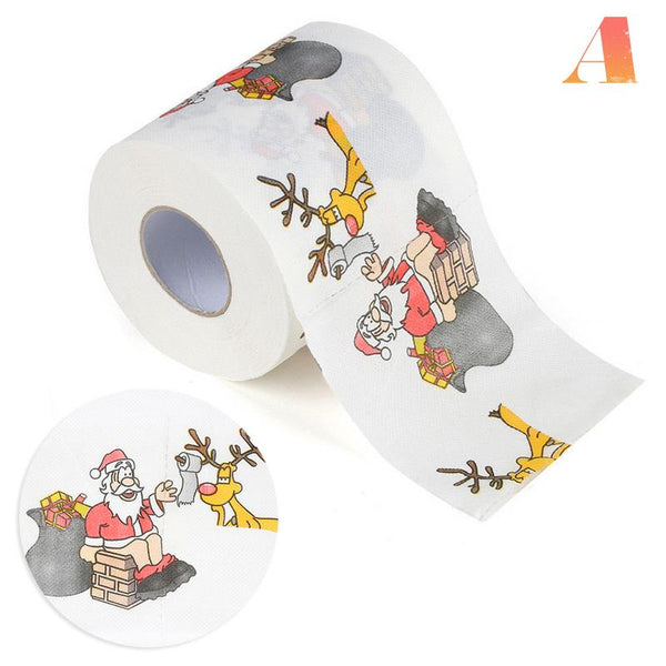 Christmas Pattern Series Roll Paper Prints Funny Toilet Paper