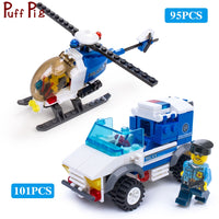 City Police Series Cars Trucks Helicopter Model Building Blocks Set Compatible Legoingly City Figures Weapon Toys For Children