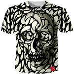 Cloudstyle 3D Tshirt Men 2018 3D Skull Print Fashion Brand Hipster Harajuku Tees Shirt Top Summer Cool Streetwear Plus Size 5XL