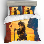 Cotton Wonder Woman Printing Bedding Set Queen King Size  Bedding Sets Duvet Cover Bed Sheets Pillowcases Bed Linen Home Textile