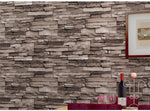 Culture Stone 3D Brick Wallpaper Waterproof Wall Background for Living Room PVC Vinyl Wall Paper Roll. Length 32.8 Feet.  Dimensions Area: 57 SQUARE FEET