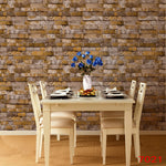 Culture Stone 3D Rock Brick Wallpaper Waterproof Background for Living Room PVC Wall Paper Roll Stereoscopic Look Wallcoverings