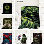 Custom Hero Series Hulk  Blanket Manta Flannel Blanket Sofa/Bed/Plane Travel Bedding 80X150cm.100X125cm,125X150cm 1