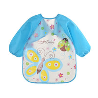 Cute Baby Bibs Waterproof Long Sleeve Apron Children Feeding Smock  Bib Burp Clothes Soft  Eat Toddler Baberos Bavoir Clothing