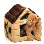 Cute Soft Dog House Pet Bed Warm Kennel Dog Cage Fleece Blanket Pupppy Playpen Sofa Cama Cachorro Pet Carrier Supplies 50B124