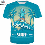 Cute Squirtle Pokemon T Shirt Men Casual Short Sleeve O Neck Summer Tops Tees Brand 3D Funny T Shirts Dropship