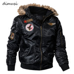 DIMUSI Mens Winter Jacket Coats Thick Thermal Cotton Parka Jacket Men Faux Fur Warm Hoodies Tactical Jackets Parks Homme,TA035