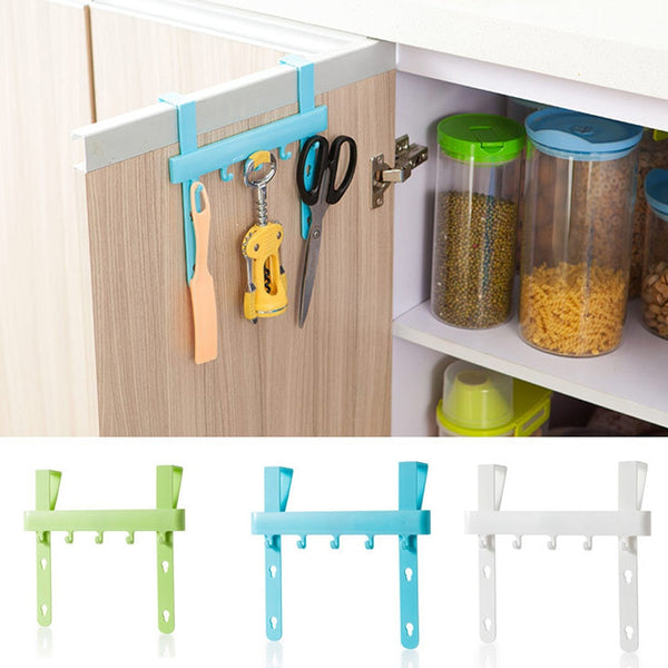 DIVV storage gadget holder kitchen organizer plastic hanger door hanger hook