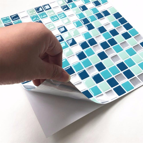 DIY Mosaic Tile Kitchen Wallpaper 3D Wall Stickers Home Decor Waterproof PVC Bathroom Decoration Self Adhesive Stickers