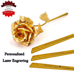 24k Gold Foil Plated Rose Personalized for any occasion...
