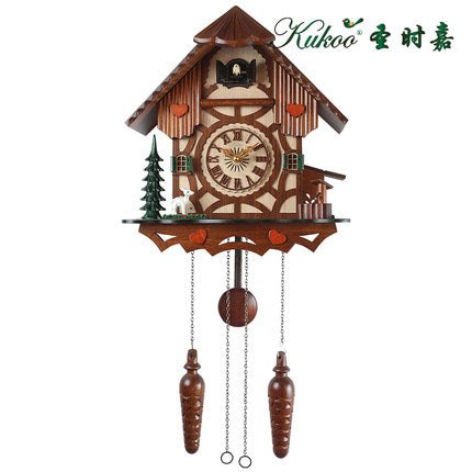 Deer Pastoral Cuckoo Clock European original movement bird wall clock