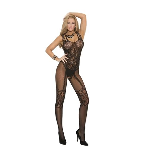 Fishnet Body Stocking - Queen Size - Black
