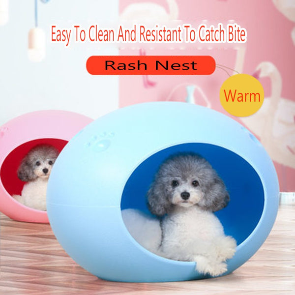 Eco Friendly Soft Oval Dogs Kennel Durable Sleeping Bag Bed Golden Retriever Bed Grasping Clean Box Training Pets Tools 60Z1157