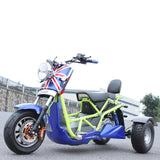 Electric Scooter 3 Wheel Tricycle 72V 1000W High-powered
