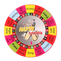 Electric Turntable Roulette, Drinking Game Toy for Adults Party 10.5cm Dia.