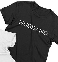 Couple Shirt Husband and Wife Matching Tshirts Just Married Honeymoon Couple. 1pc