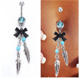 Epoxy Enamel Esmalte Colares Butterflys Belly Button Rings Sexy Body Piercing Jewelry Bars Piercings black Navel Piercing Gothic