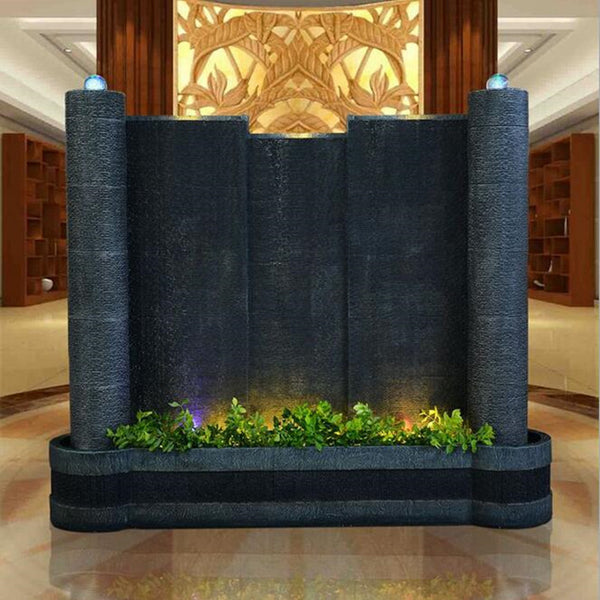 European decoration Water curtain wall fish tank water wall screen fountain water view club lobby decoration home  decoration