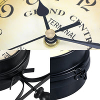"European-style Double-sided Wall Clock ""NEW YORK GRAND CENTRAL TERMINAL"""