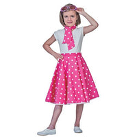 SOCK HOP SKIRT CHILD PINK WHIT