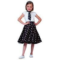 SOCK HOP SKIRT CHILD BLACK WHI
