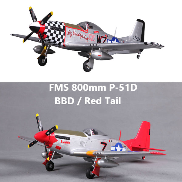 FMS 800mm Mini P51 P-15D Mustang BBD Red Tail 4CH 2S EPO PNP RC Airplane Warbird Hobby Model Plane Aircraft Avion Freeshipping