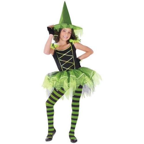 BALLERINA WITCH GREEN CHLD MED