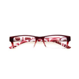 Fashion rectangular Reading Glasses  Women spring hinge printed Temple Readers Plastic eyeglasses frames