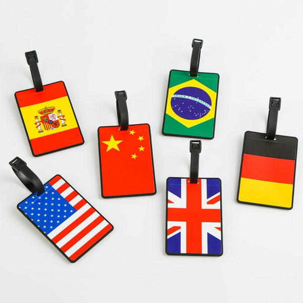 Festival Luggage Tag Silica Gel Suitcase Country Sign Holder Baggage Boarding Tags Portable Label for Party Decor