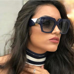 Flat Top Oversized Square Sunglasses Women Gradient 2019 Summer Style Classic Women Sun Glasses Female Big Square Eyewear UV400