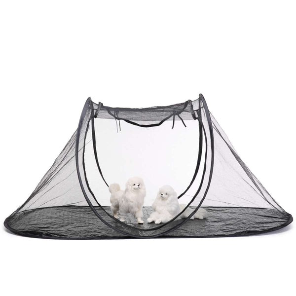 Folding Pet Tent Cat Dog House Cage Puppy Kennel Playpen Feline Fun house Portable Exercise Tent Fence with Carry Bag Outdoor