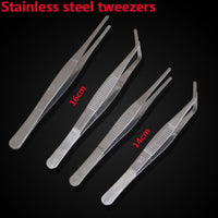 Food Clip Kitchen Gadgets Multi-function stainless steel tweezers repair tools multiple Tweezers Clip Buffet BBQ Tool