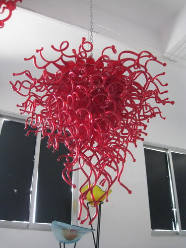 Free Shipping Modern Flower Chandelier Hand Blown Murano Glass for Bar