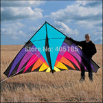 Free Shipping Outdoor Fun Sports 3.6m Nylon  Multicolor  Power Triangle  Kite  Good Flying