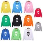 Free shipping unisex single color hockey hoodies with a hockey mask for men & women