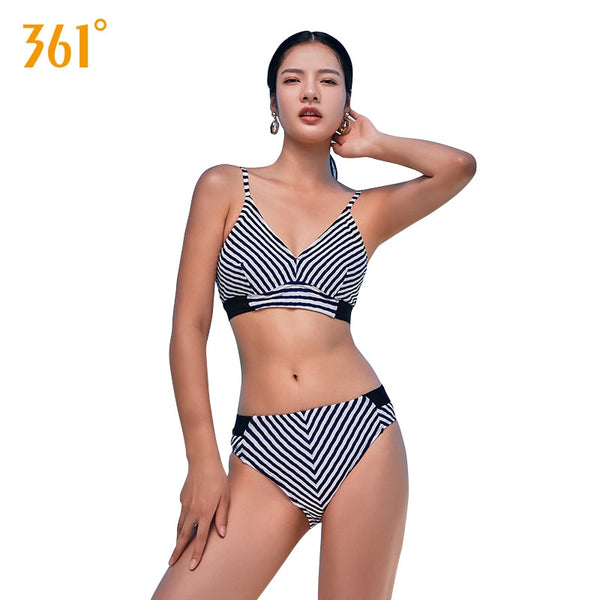 Fringe Swimsuit Women Sexy Push Up Bikini Halter Brazilian Bikini Set Bathing Suit Ladies Striped Swimming Suit Female Bathing