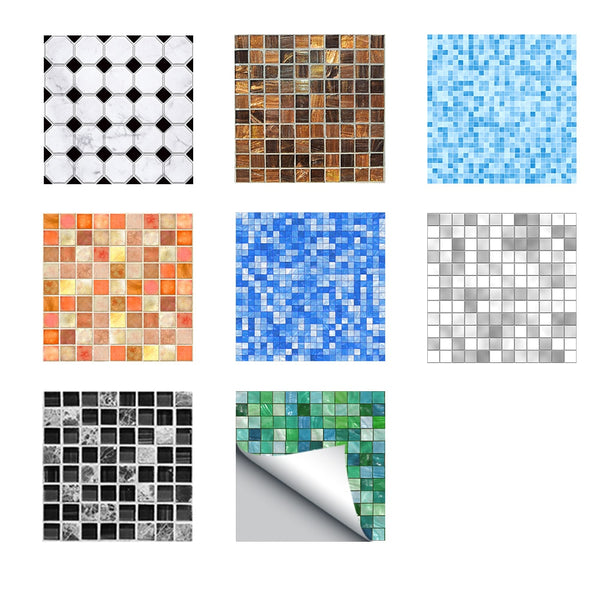 Funlife 20*20cm Imitation Marble Furniture PVC Waterproof Self Adhesive Wallpaper Kitchen Bathroom Mosaic Tile Sticker Wall Art