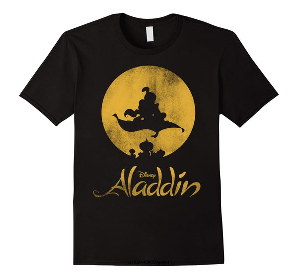 Funny Men t shirt Women novelty tshirt Aladdin Magic Carpet Silhouette Graphic T-Shirt