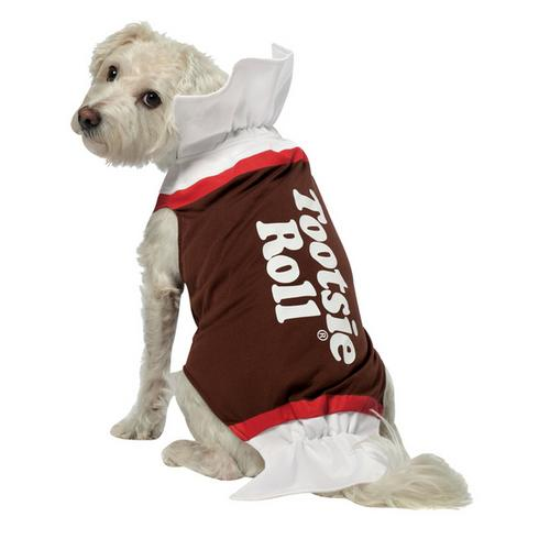 TOOTSIE ROLL DOG COSTUME SMALL