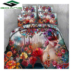 3D Dreams are Forever Bedding Set. bed sheet duvet cover pillow case 3d reactive printing sexy woman & Plant Floral queen bedding set decor gifts