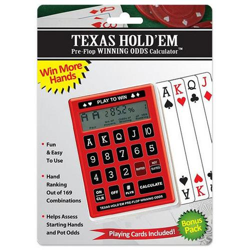 Texas Hold'Em Pre-Flop Odds Calculator w/Deck of Cards