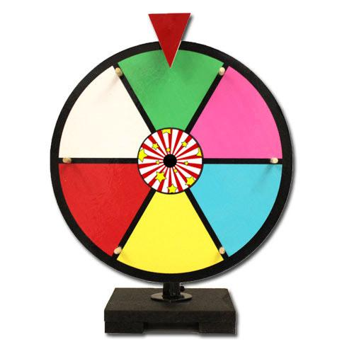 "12"" Color Dry Erase Prize Wheel"