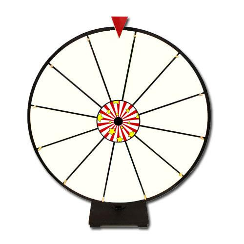 "24"" White Dry Erase Prize Wheel"