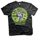 Gas Monkey Green Logo Official Fast' Loud Black Mens T-shirt  funny t shirts