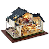 Gifts New Brand DIY Doll Houses Wooden Doll House Unisex dollhouse Kids Toy Furniture Miniature crafts free shipping A032